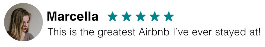 Marcella 5 Star Airbnb Review