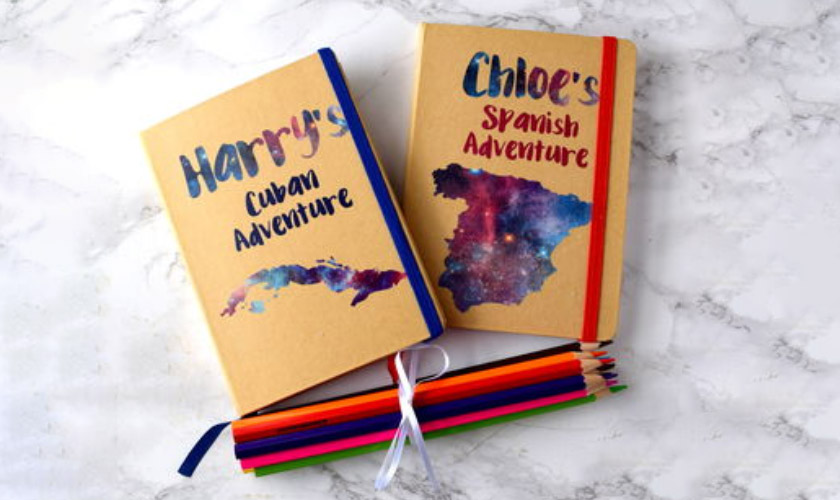 Alphabet Gift Shop Personalized Kids Travel Journal