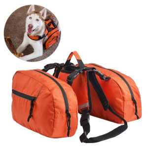 Saddlebag Dog Bookbag for Hiking With Your Dog
