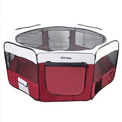 Portable Doggy Playpen by Fabulous Pet