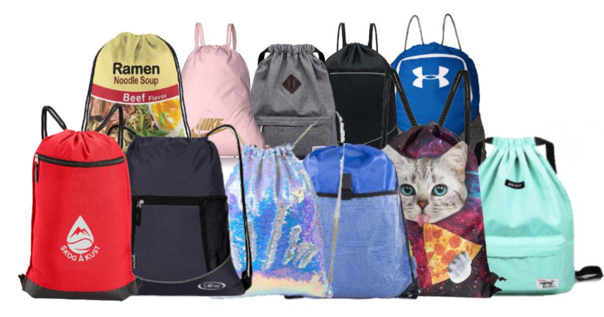 12 Awesome Drawstring Cinch Bags For Travel