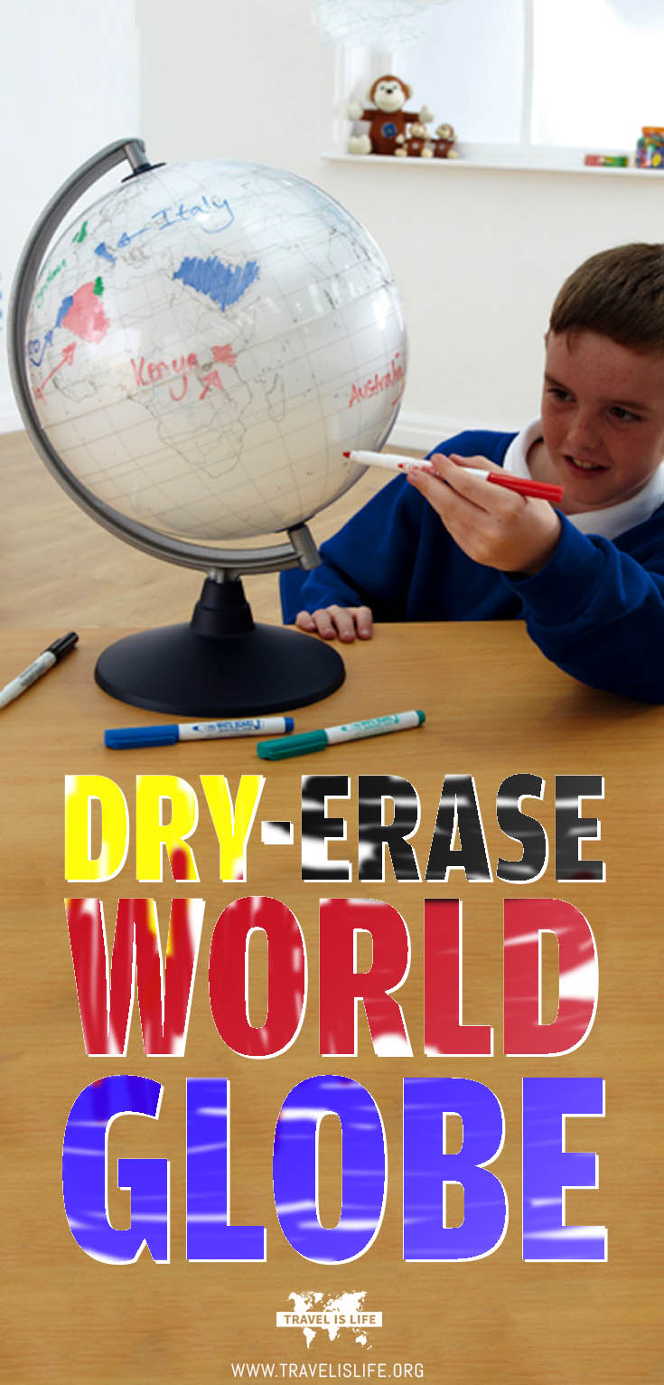 Dry-Erase Whiteboard World Globe