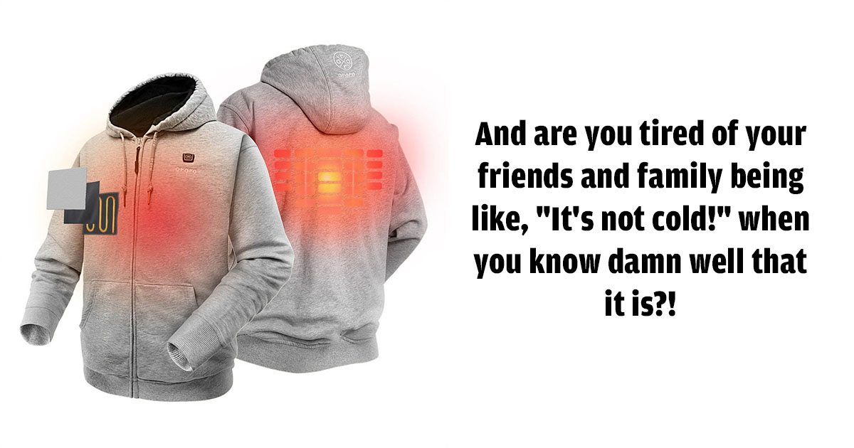 Electric Heated Hoodie By Ororo Wear