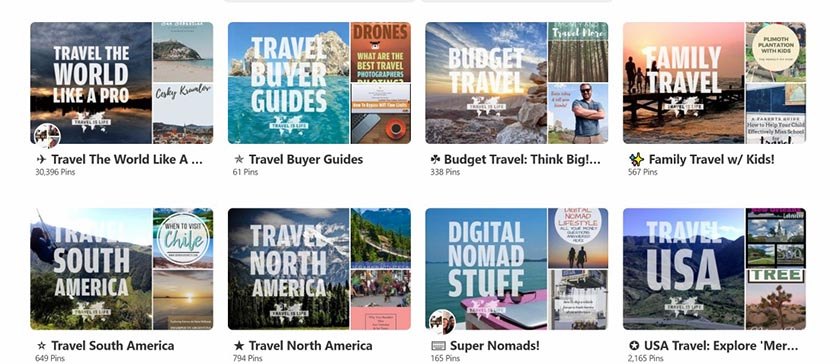 Examples of Cover Images on Pinterest