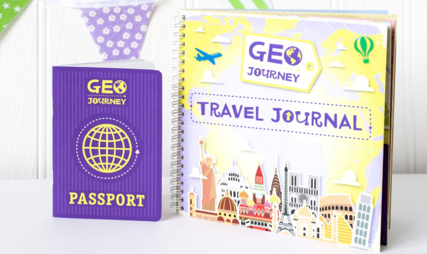 Kids Geo Journey Travel Journal