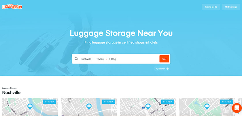 Luggage Hero - Luggage Storage App