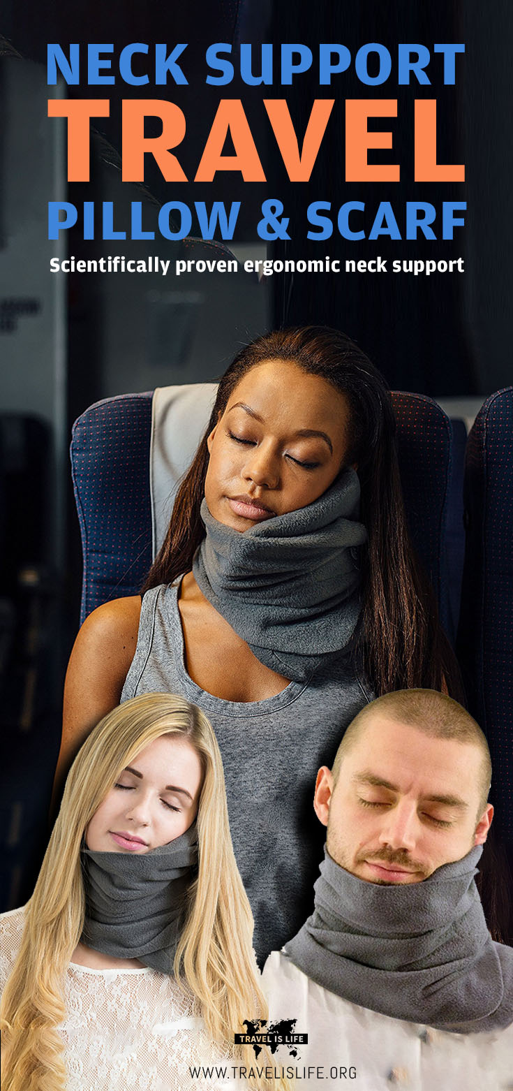 Neck Support Travel Pillow Scarf