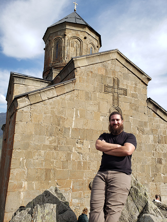 Paul at Gergeti Trinity Church