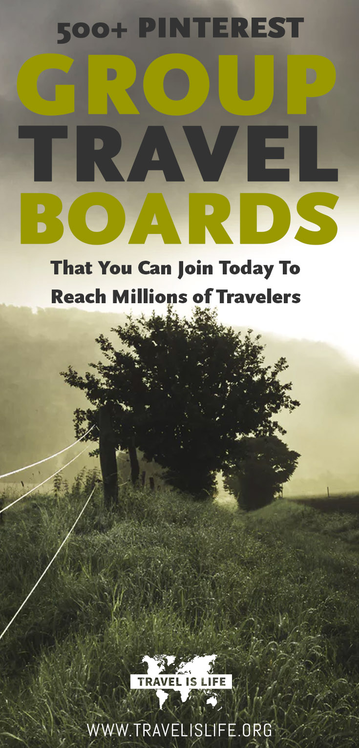 Group Travel Boards for Pinterest