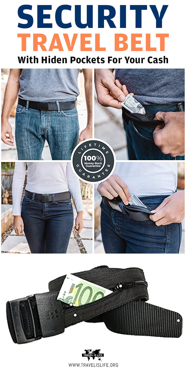 Travel Anti-theft Security Belt with Hidden PocketsTravel Anti-theft Security Belt with Hidden Pockets