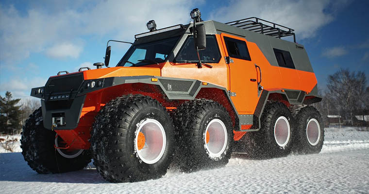 Shaman Russian All Terrain Vehicle Snow
