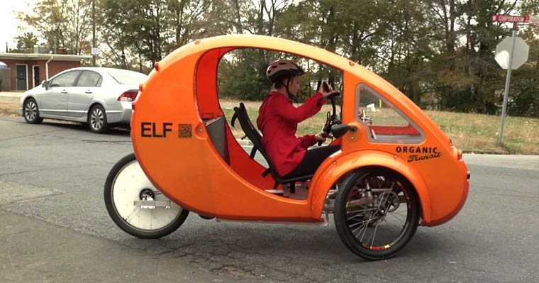 The ELF Organic Transit - Solar Powered Electric Tricycle