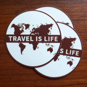 Travel is Life Stickers