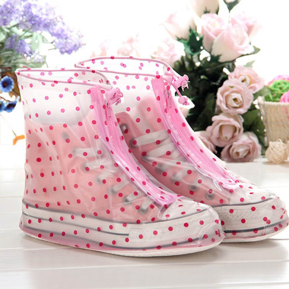 Womens Rainproof Waterproof Shoe Cover for Traveling