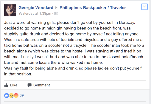 Boracay Moto Bike Driver Rape Attempt