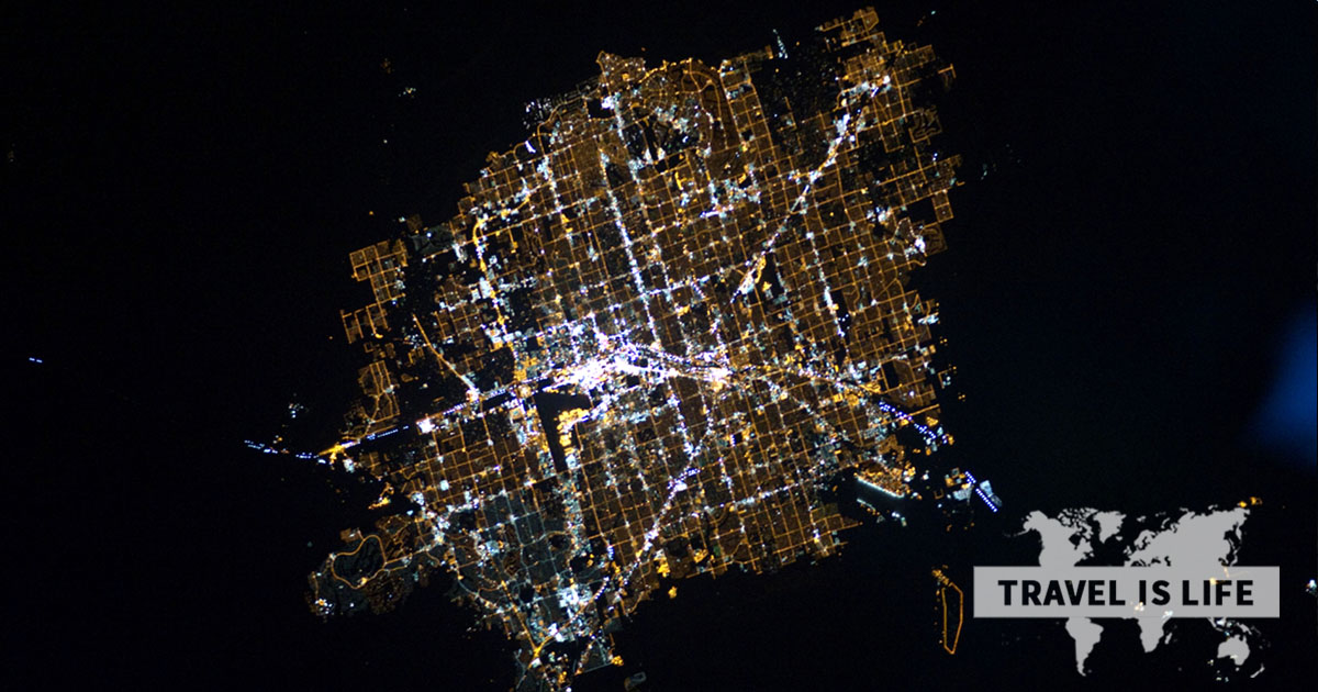 What does Las Vegas look like from outer space?